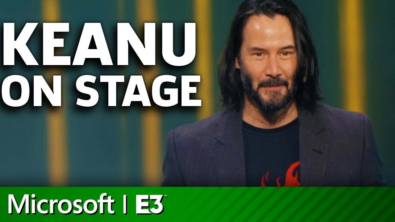 Photo of Cyberpunk 2077 – Keanu Reeves On Stage | Microsoft Xbox E3 2019