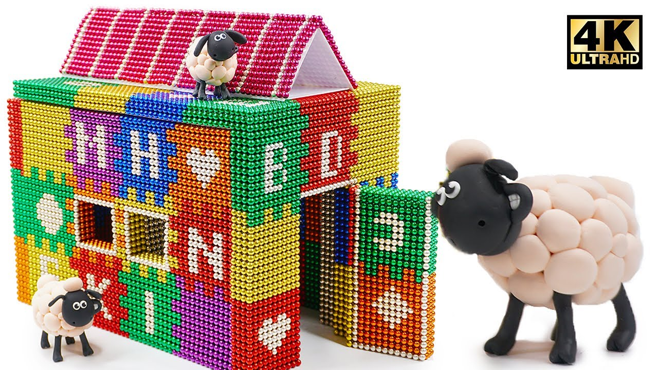 Photo of DIY – How To Build Colored Playhouse From Magnetic Balls ( Magnet ASMR ) | Magnet World 4K