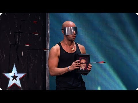 David Walliams saves Jonathan Goodwin's life in DEADLY crossbow stunt | Semi-Finals | BGT 2019