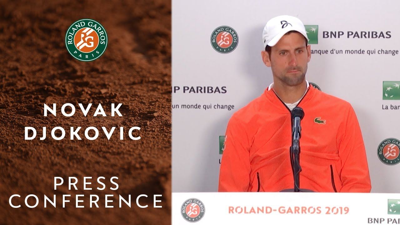 Photo of Novak Djokovic – Press Conference after Semi-Finals | Roland-Garros 2019