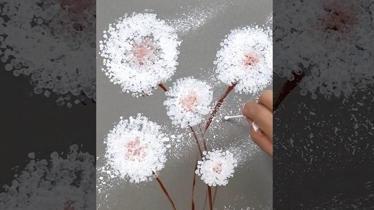 Photo of How to paint Dandelions Fast and Easy / Vertical Painting / Art Hacks