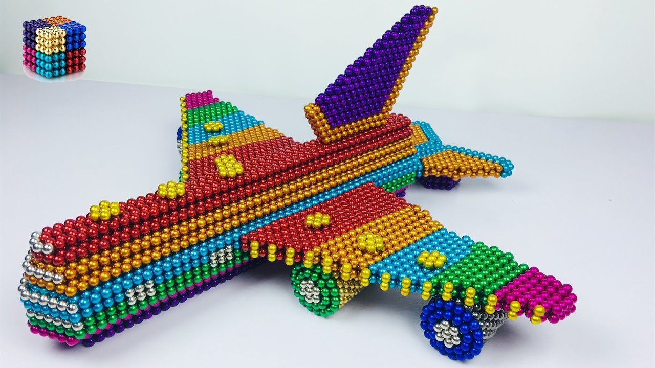DIY – How To Make Rainbow Airplane With 16850 Magnetic Balls(ASMR) |  Magnetic Boy 4K