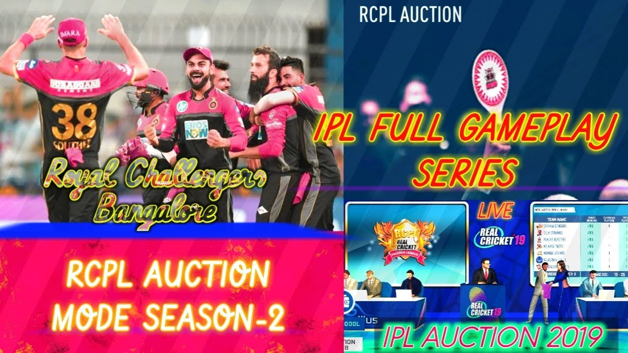 """Photo of IPL LIVE GAMEPLAY//(PART-1)RCPL AUCTION MODE """"SEASON-2""""//REAL CRICKET 19 LIVE GAMEPLAY"""
