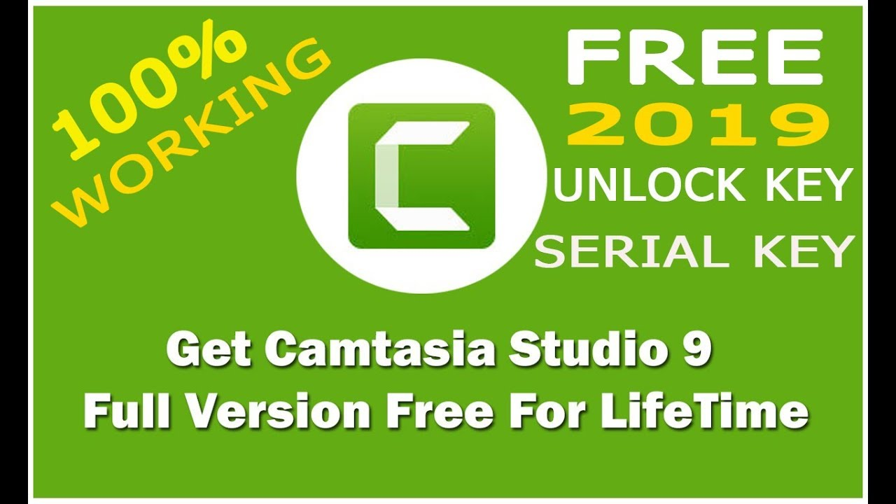Camtasia Studio 9 Used LifeTime Free With Unlock and Serial Key 100% Working