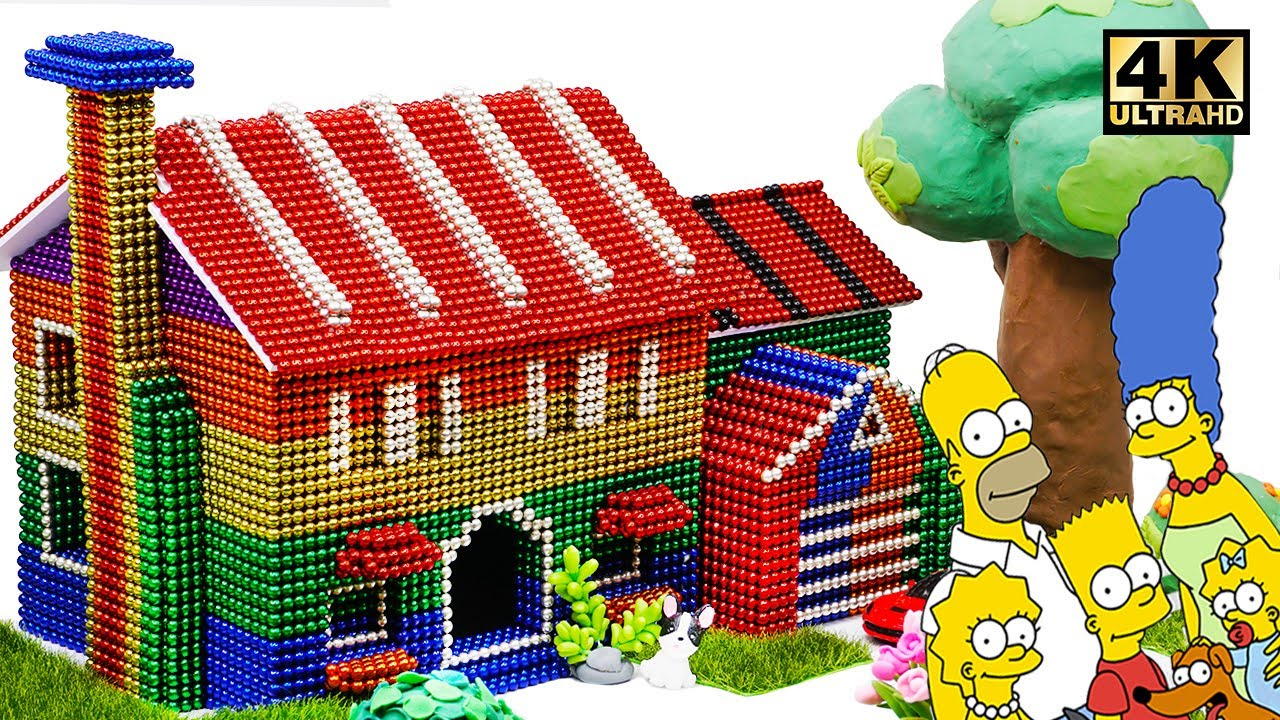 Photo of DIY How To Build Simpsons Family House From Magnetic Balls (Satisfying and relax) | Magnet World 4K
