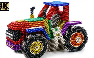 DIY – How To Make Color Tractor John Deere From Magnetic Balls ( Satisfying ) | Magnet World 4K