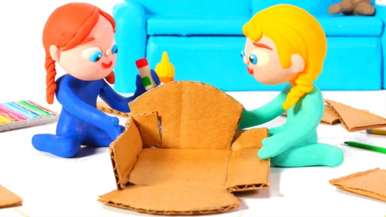 Photo of FROZEN ELSA & ANNA BUILD A DOLL' S HOUSE ❤ Spiderman, Hulk & Frozen Play Doh Cartoons For Kids