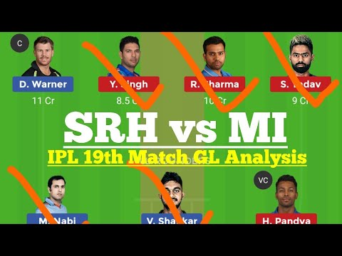 Photo of SRH vs MI Dream11 Prediction, SRH vs MI IPL 19th Match Dream 11 team, dream11 today match