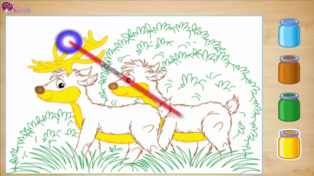 Deer Coloring Pages  coloring and drawing for Kids العاب برق