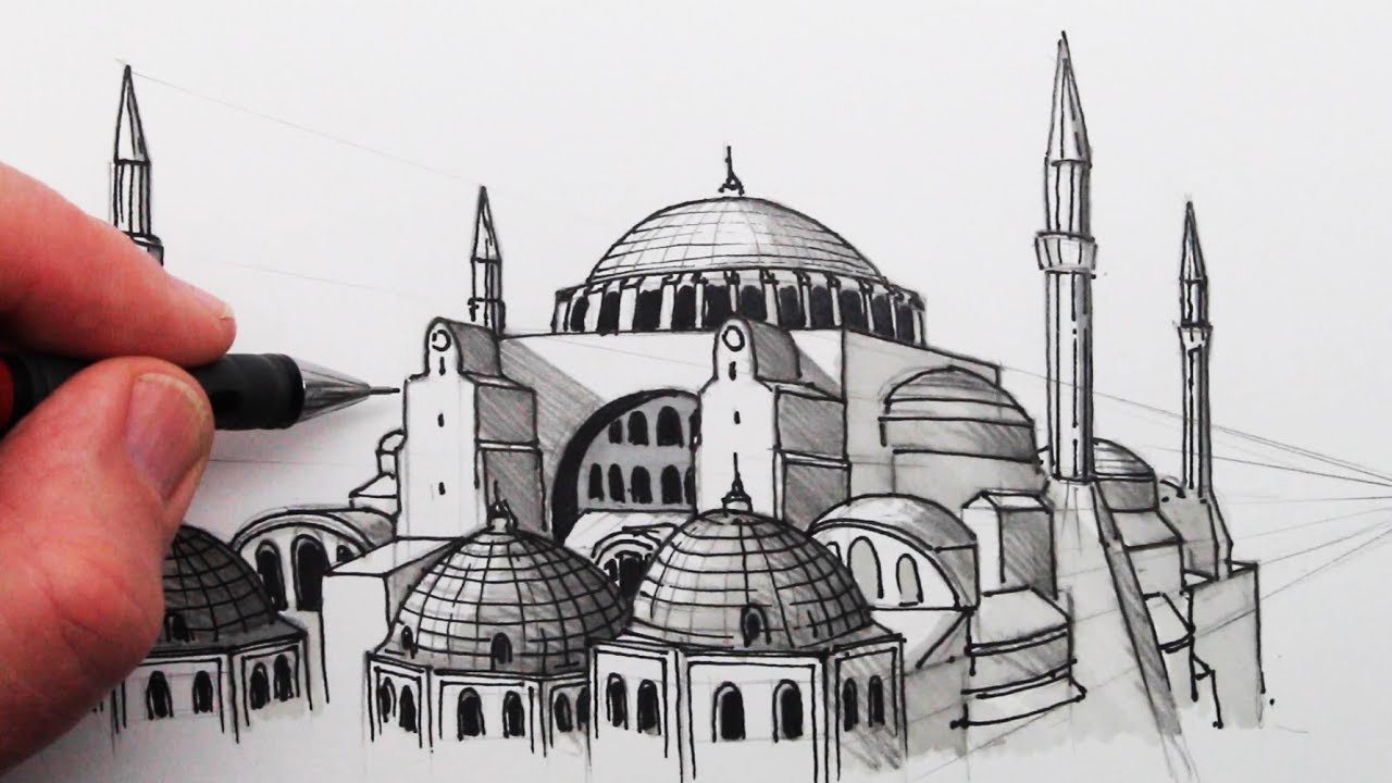 Photo of How to Draw The Hagia Sophia: Buildings in Perspective