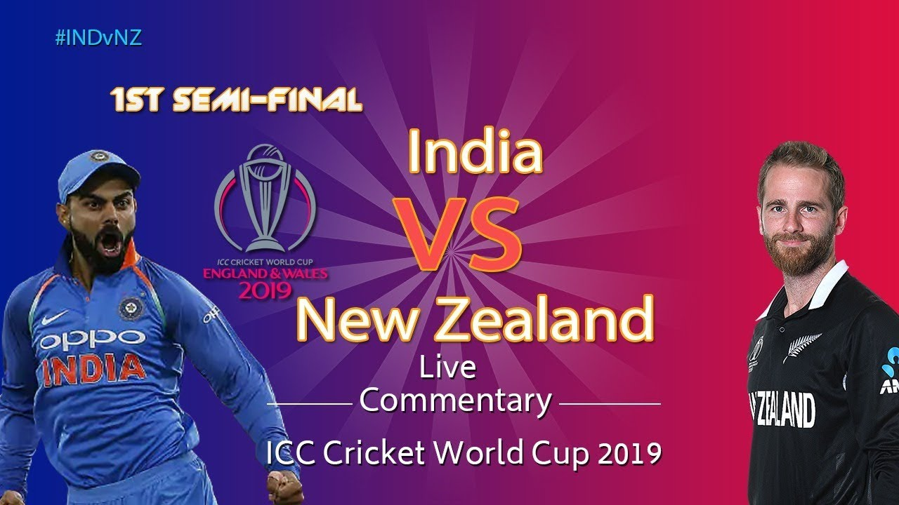 India vs New Zealand #INDvNZ – Cricket LIVE  – ICC Cricket World Cup 2019 – 1st Semifinal