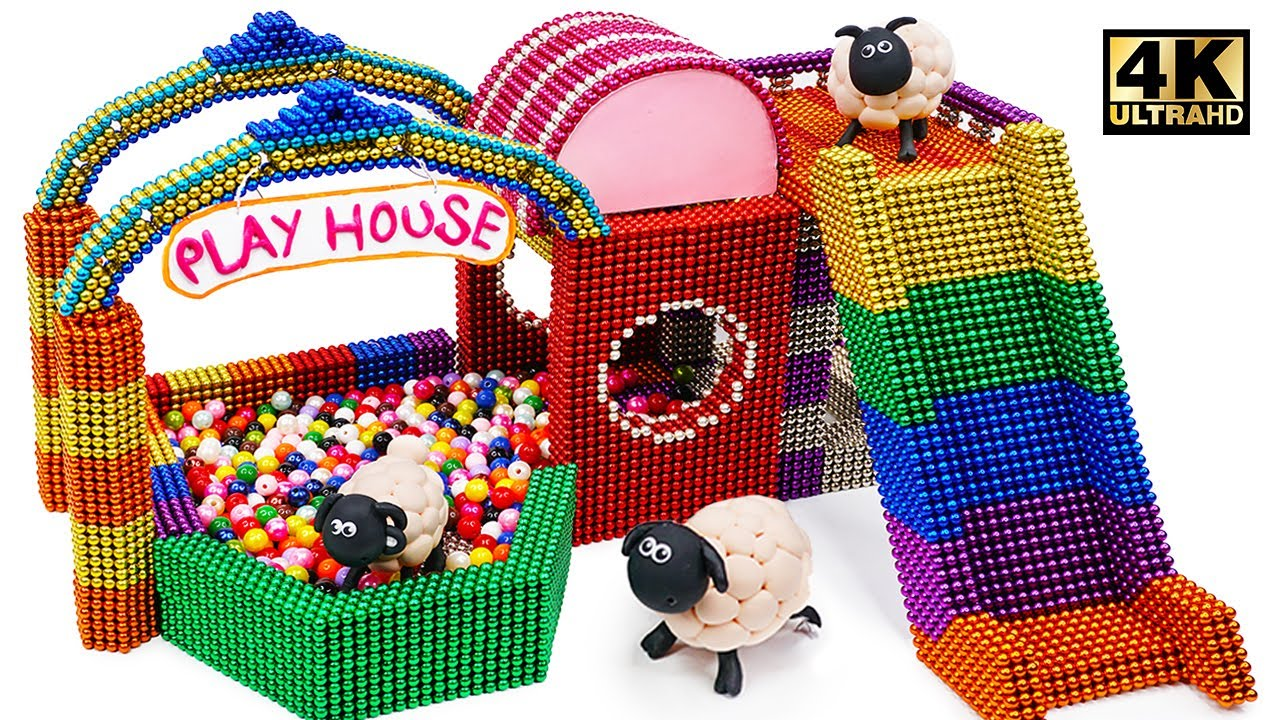 Photo of DIY How To Make Slide Playhouse From Magnetic Balls ( Satisfaction ) | Magnet World 4K