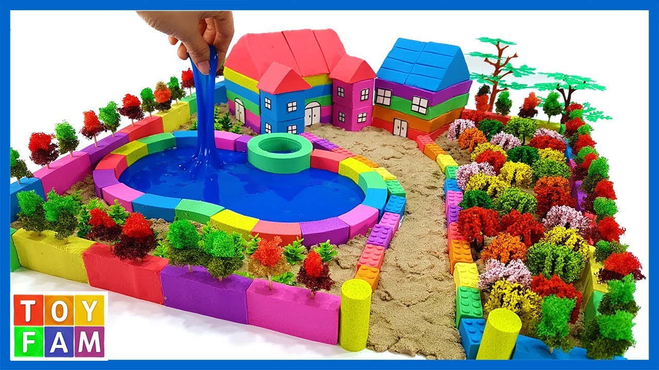Photo of How To Make Beautiful Villa with Kinetic Sand, Mad Mattr, Decorative Flowers P2. | ToyFAM