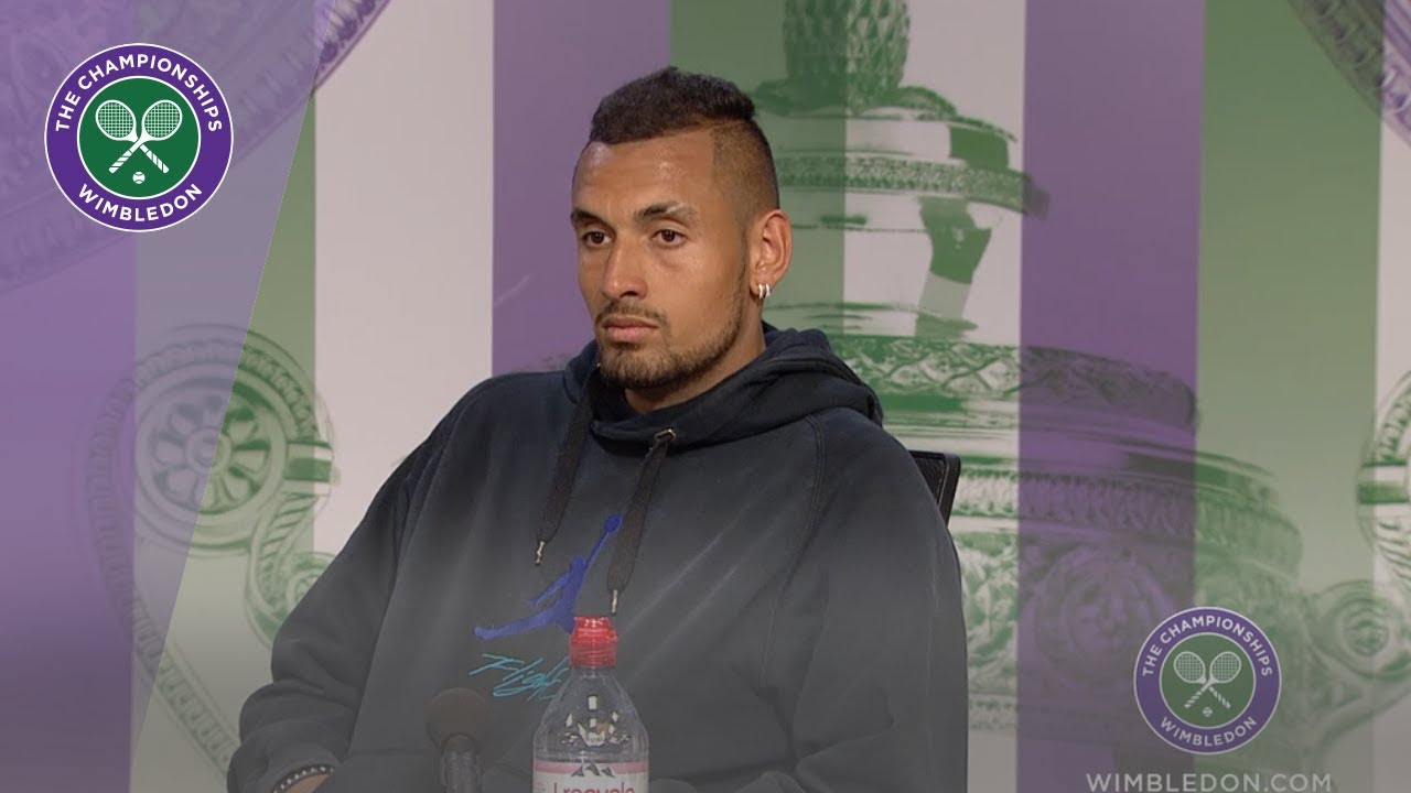 Photo of Nick Kyrgios Wimbledon 2019 Second Round Press Conference