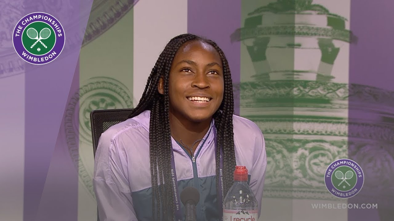 Photo of Coco Gauff Wimbledon 2019 Third Round Press Conference