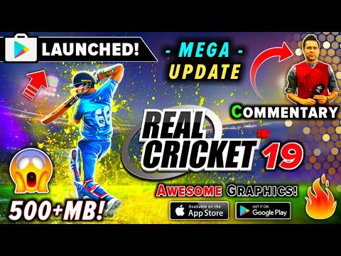 Photo of Real Cricket 19 MEGA Update 500MB Akash Chopra Commentary, New IPL 2019 Auction, Voice Chat