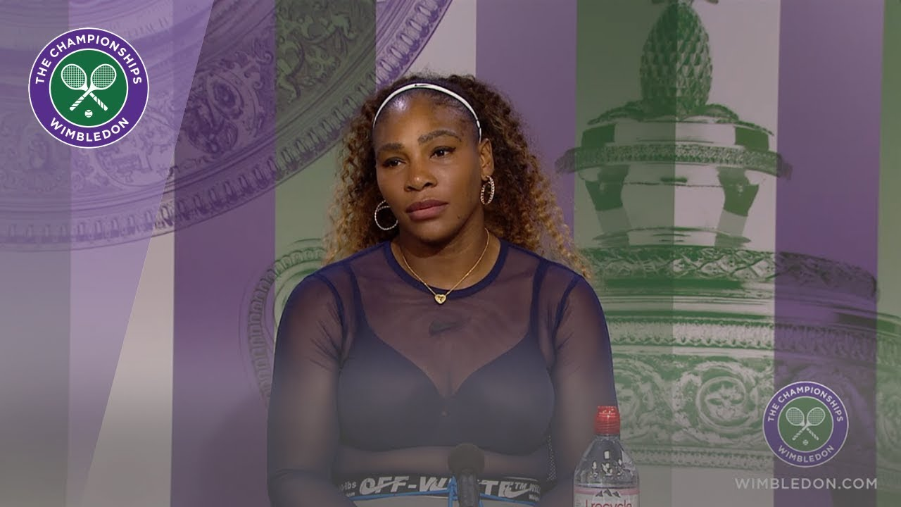 Photo of Serena Williams Fourth Round Press Conference Wimbledon 2019