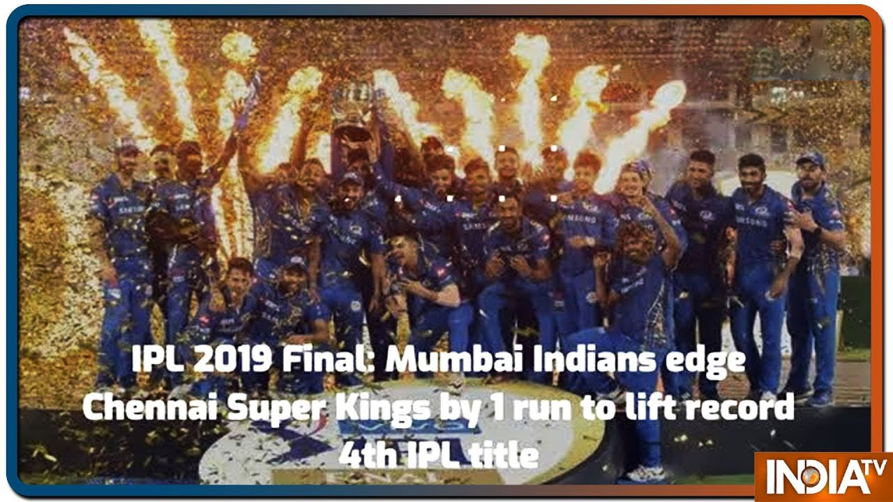 IPL 2019 Final: Mumbai Indians edge Chennai Super Kings by 1 run to lift record 4th IPL title