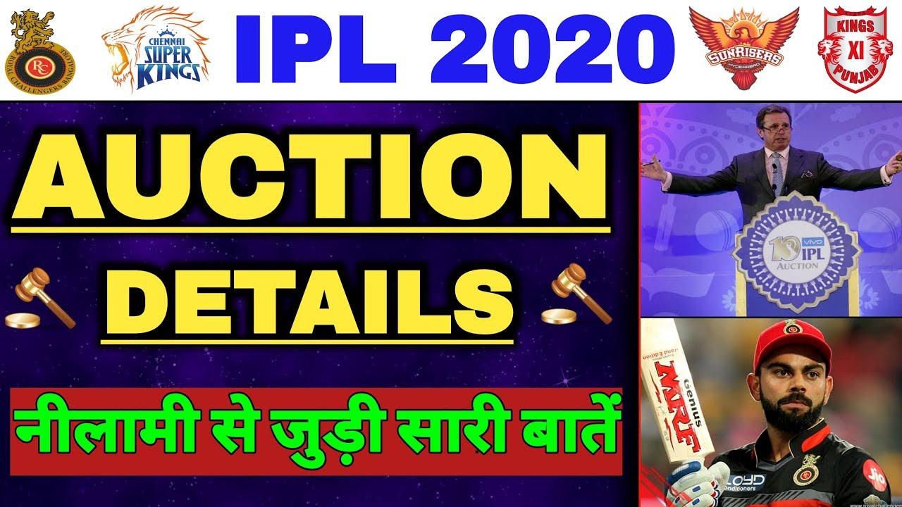 Photo of IPL 2020 Auction Full Details