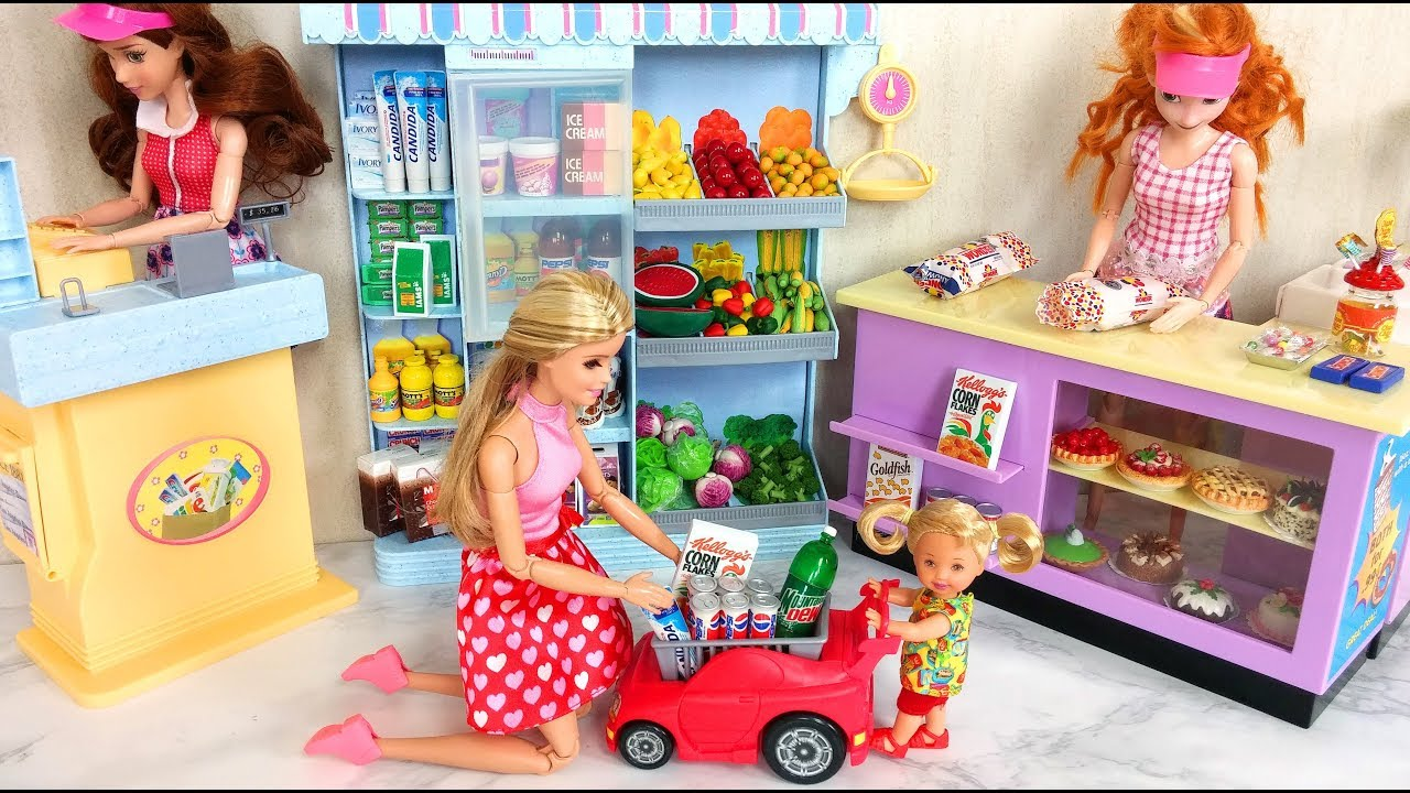 Photo of Barbie Grocery Shopping Morning Routine باربي متجر بقالة لعبة Barbie Brinquedo de supermercado