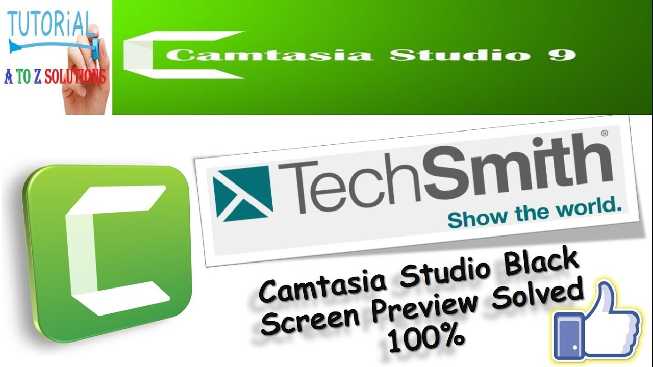 Solved blank screen preview  on Camtasia Studio 9 | Black Screen Problem FIX  for Windows like PRO👍