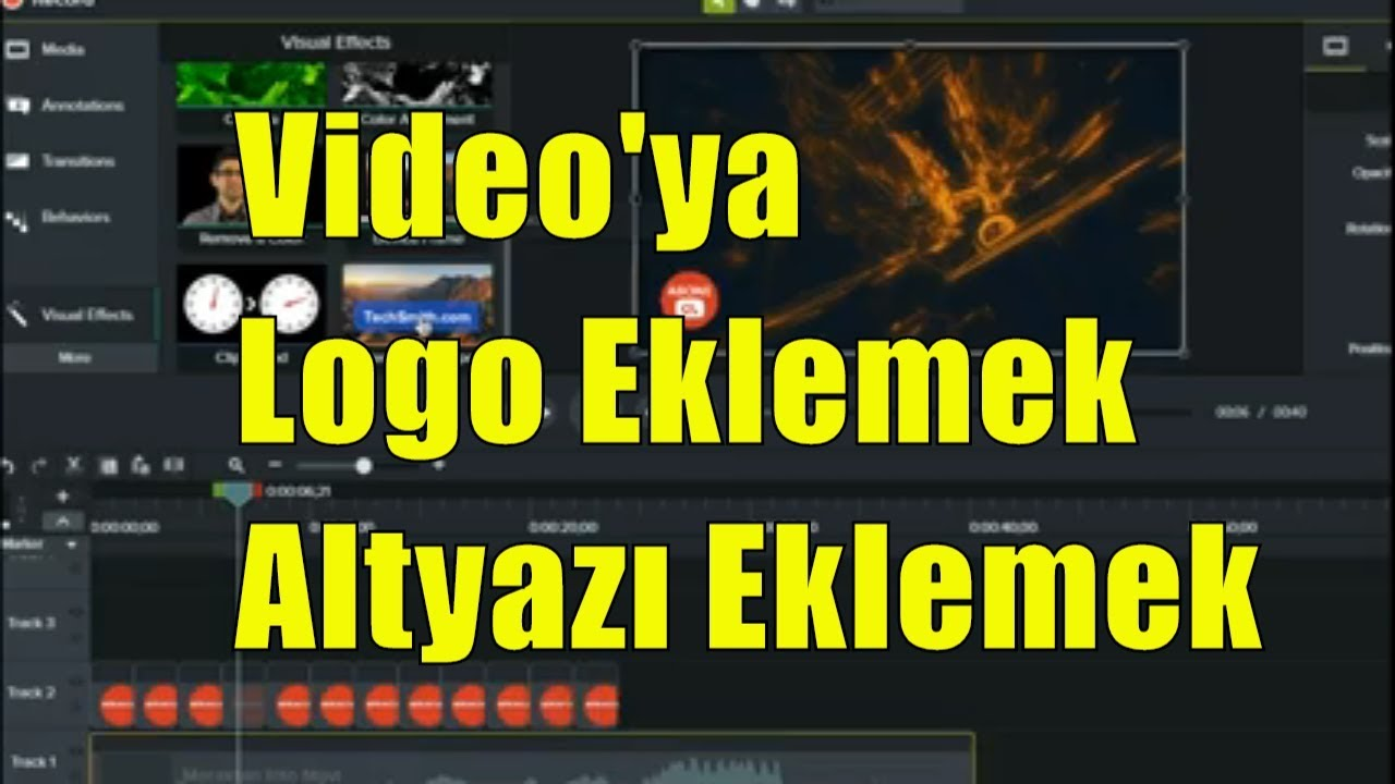 Photo of Camtasia Studio İle Videoya Logo Ve Altyazı Eklemek