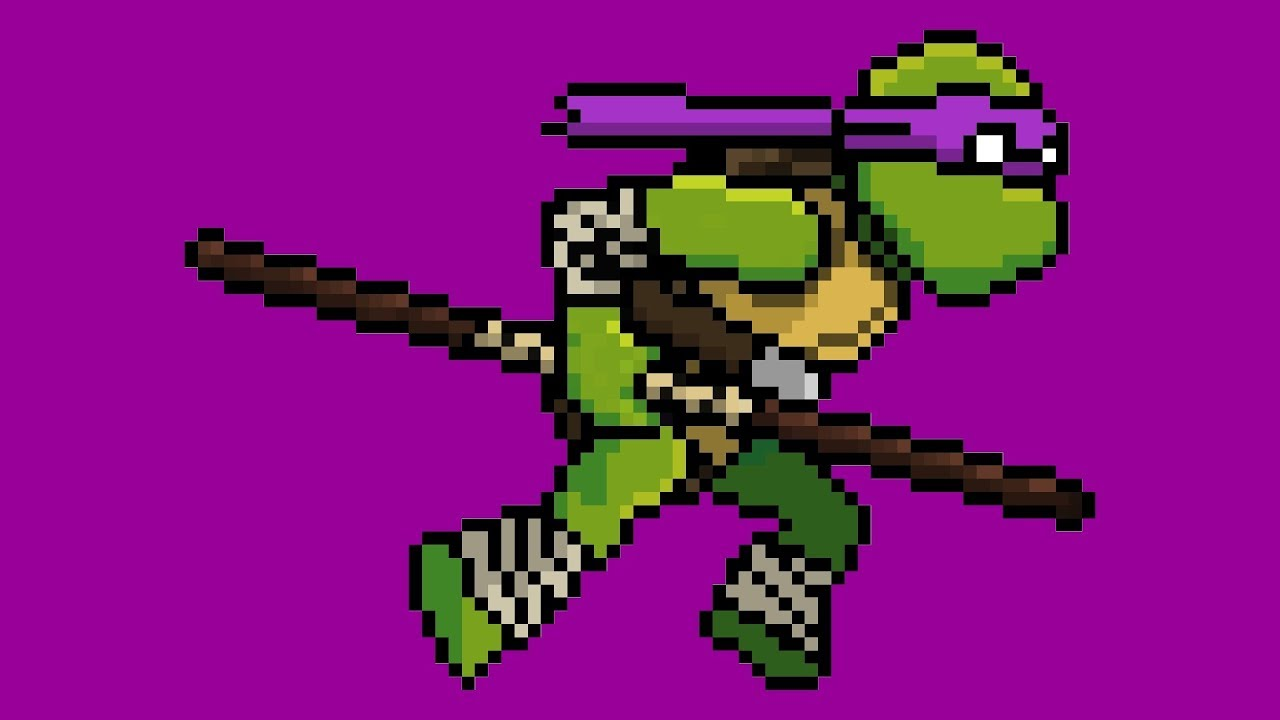 Photo of How to draw Pixel Donatello from TMNT. Cartoon for kids.