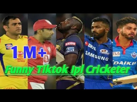 IPL cricketers Hardik, Andre Russell, Virat Kohli, Rohit dance masti | cricket tik tok funny video