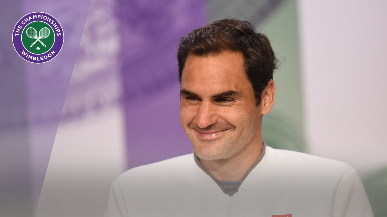 Photo of Roger Federer Runner-Up Press Conference Wimbledon 2019