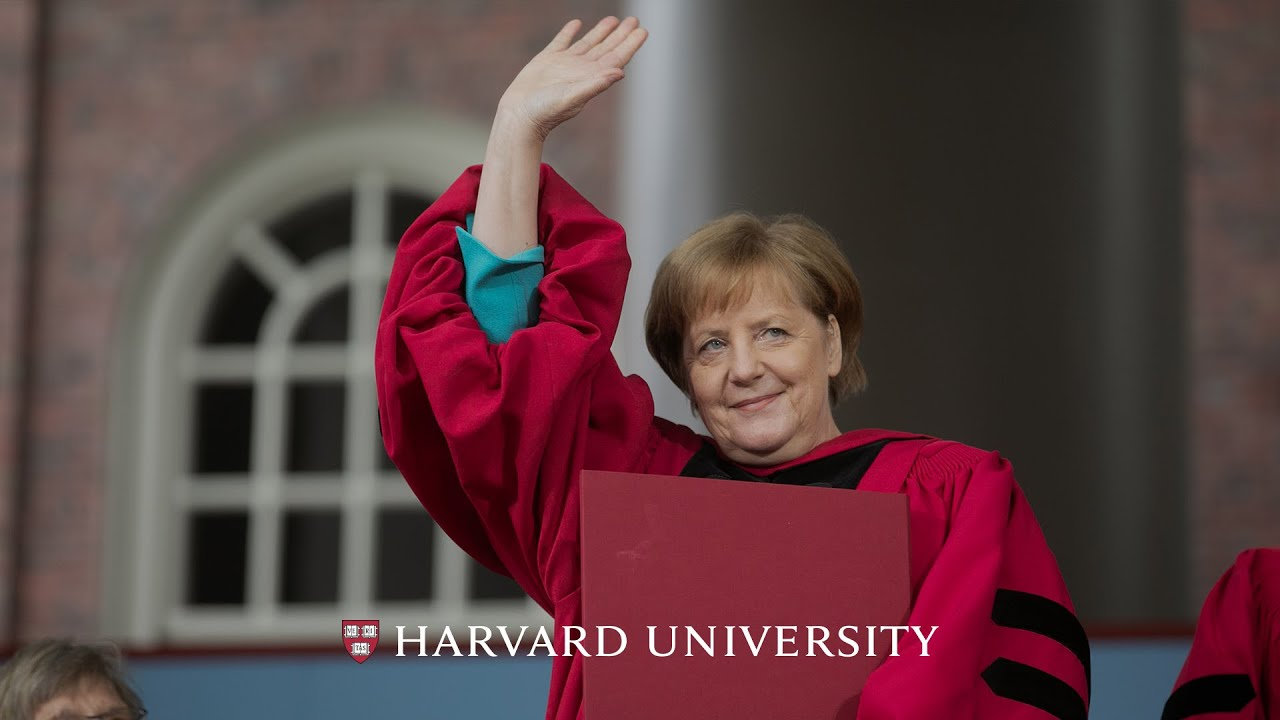 Photo of German Chancellor Angela Merkel's address | Harvard Commencement 2019
