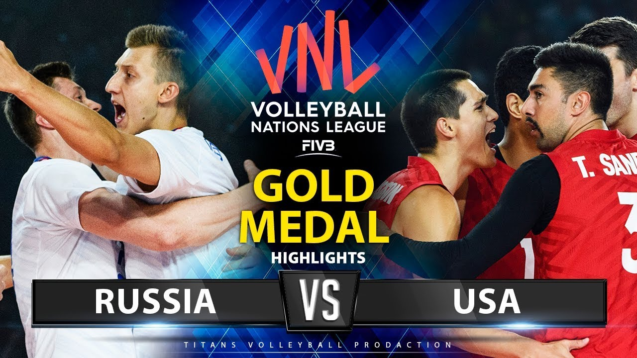 Russia vs USA  | Gold Medal Match | Highlights | Men's VNL 2019