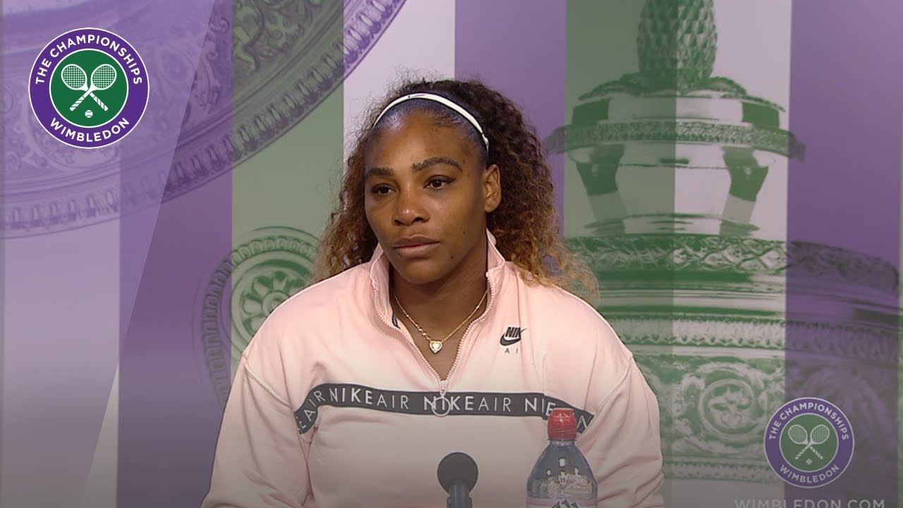 Photo of Serena Williams Runner-Up Press Conference Wimbledon 2019