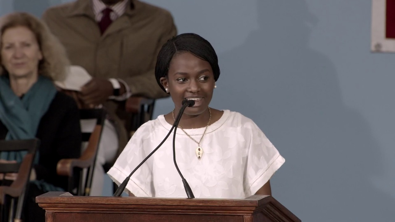Photo of Harvard Orator Eunice Alison Nyang'or Mwabe | Harvard Commencement 2019