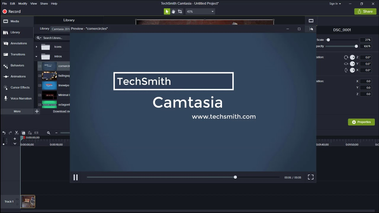 Photo of Introduction to Camtasia Studio | HCDA Learning Centre