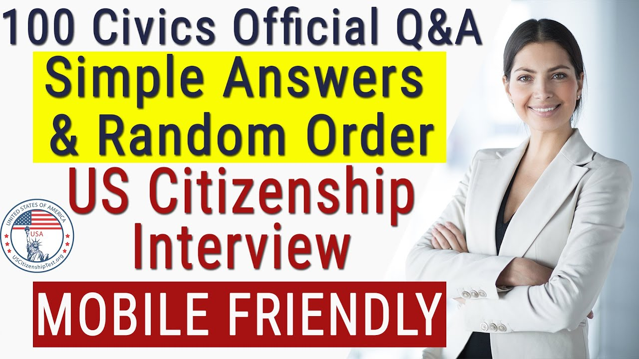 Photo of 2019 Official US Citizenship Test Questions & Answers | RANDOM & Single EASY Answer Mobile Friendly