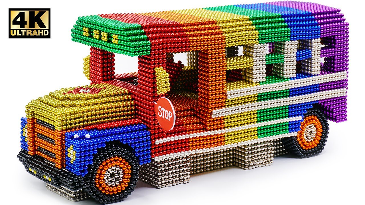 Photo of How To Make School Bus From Magnetic Balls ( Satisfying and Relax ) | Magnet World 4K