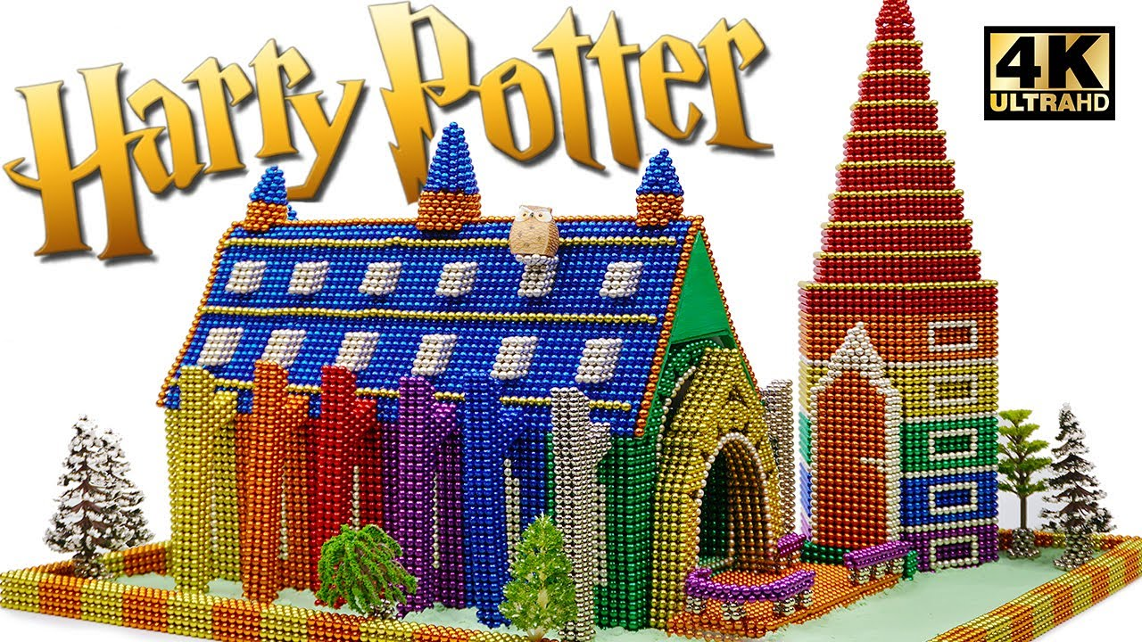 DIY How To Build Harry Potter Hogwarts Great Hall From Magnetic Balls (Satisfaction) Magnet World 4K