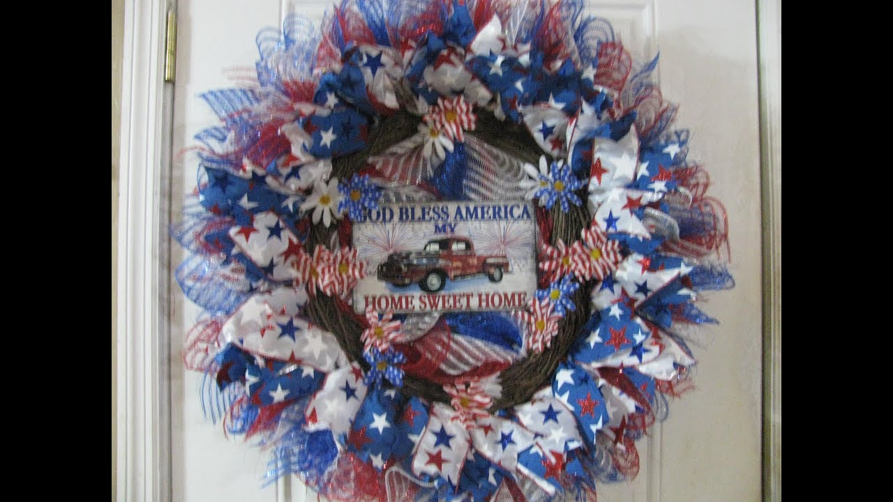 Photo of 2019,God Bless America, My Home Sweet Home Wreath