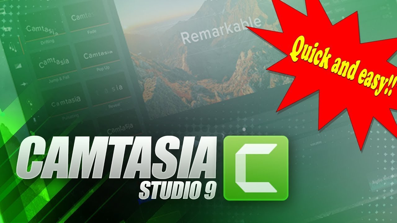 Photo of CAMTASIA STUDIO 9 TUTORIAL [NEW 2019] – HOW TO USE CAMTASIA STUDIO 9