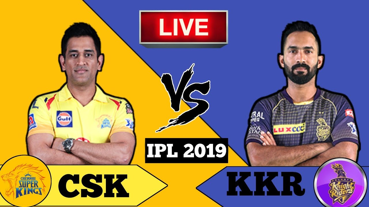 LIVE – IPL 2019 Live Score, CSK vs KKR Live Cricket match highlights today 9 April live cricket