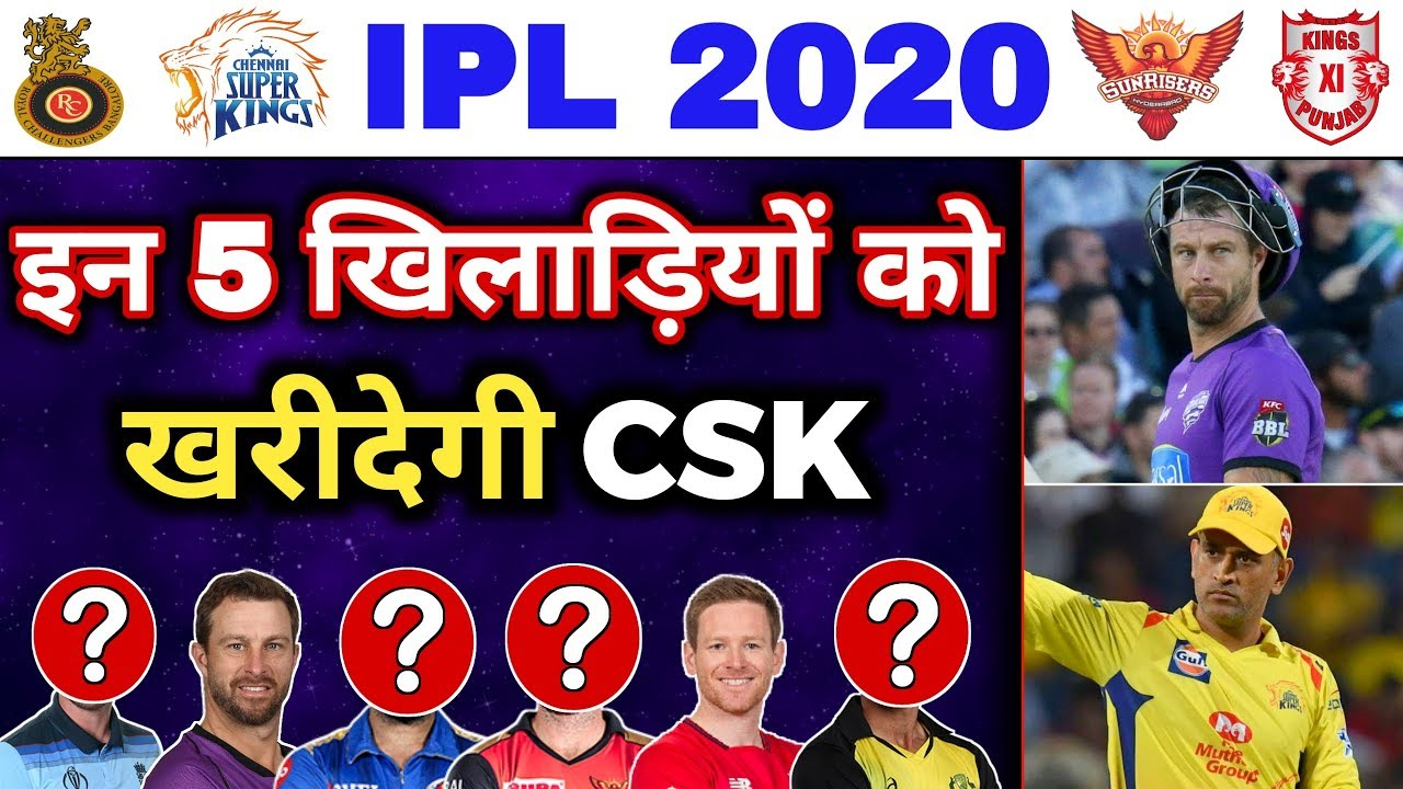 Photo of IPL 2020 – CSK will Definitely Buy these 5 Players in Auction