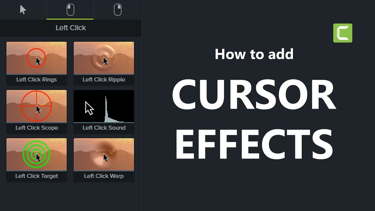 Camtasia 9 Tutorial: How to add Cursor Effects