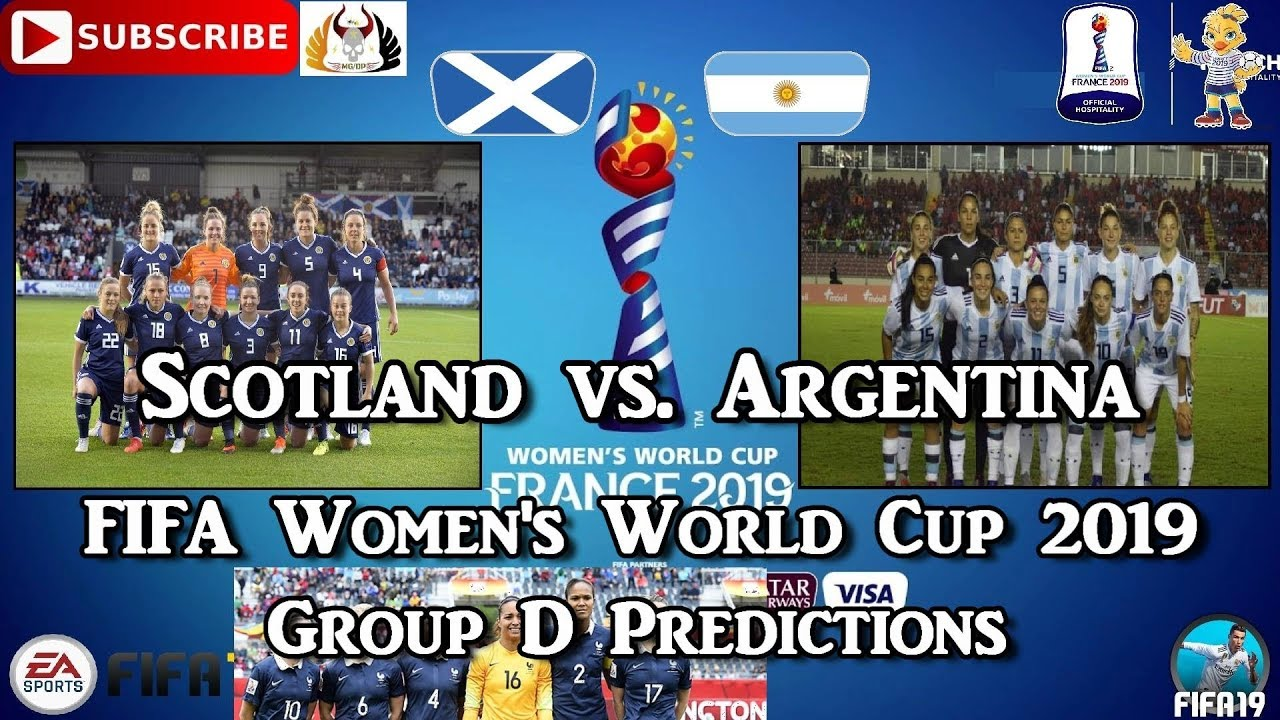 Scotland vs. Argentina | FIFA Women's World Cup 2019 | Group D Predictions FIFA 19