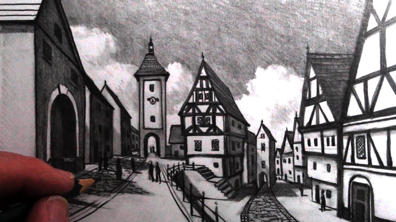 Photo of How to Draw Old Buildings in Perspective: Medieval Rothenburg