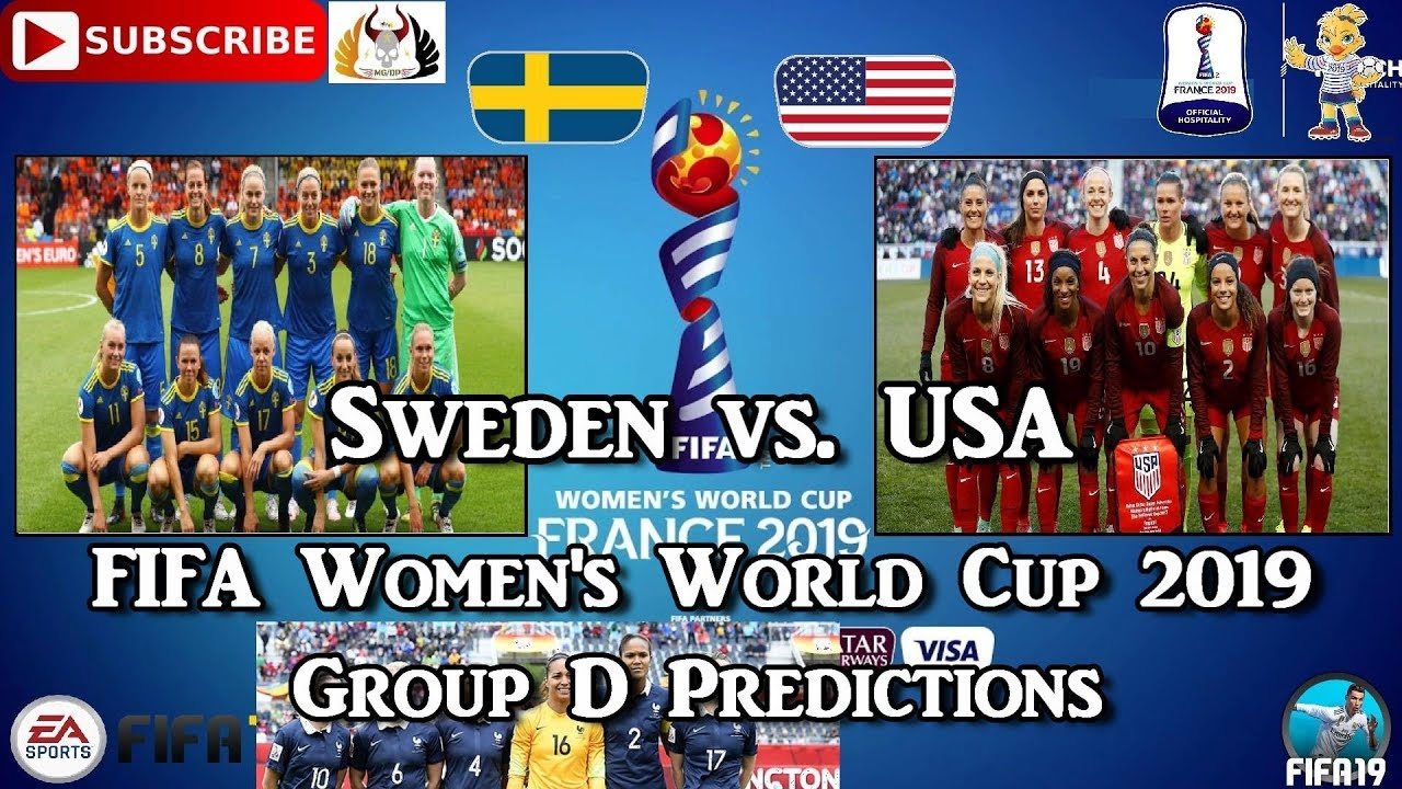 Photo of Sweden vs. USA | FIFA Women's World Cup 2019 | Group D Predictions FIFA 19