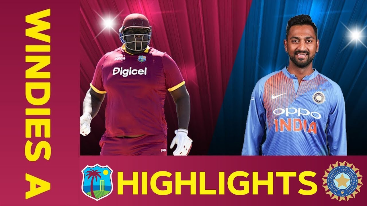 West Indies A vs India A – Match Highlights | 3rd ODI 2019 | India A Tour of West Indies
