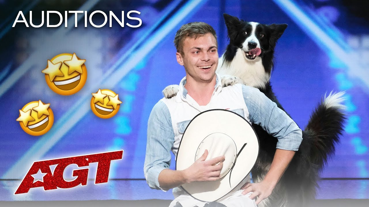 WOW! Adorable Dog Performs AMAZING Tricks With Trainer – America's Got Talent 2019