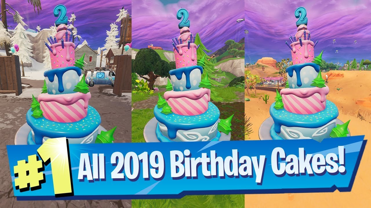 Photo of Dance in front of different Birthday Cakes ALL Locations 2019 – Fortnite 2nd Birthday Challenge