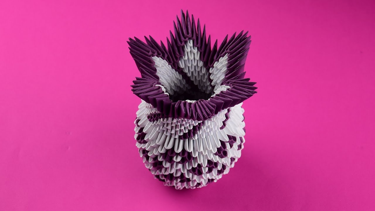 Photo of How to make an amazing paper vase 3D origami. Tutorial DIY