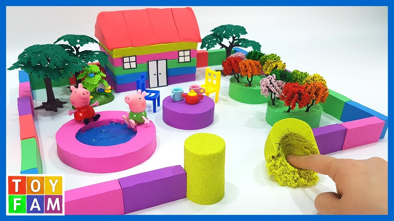 Photo of DIY How To Make Rainbow House with well with Kinetic Sand, Mad Mattr, Slime. | ToyFAM